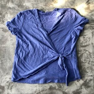Old Navy faux tie front top